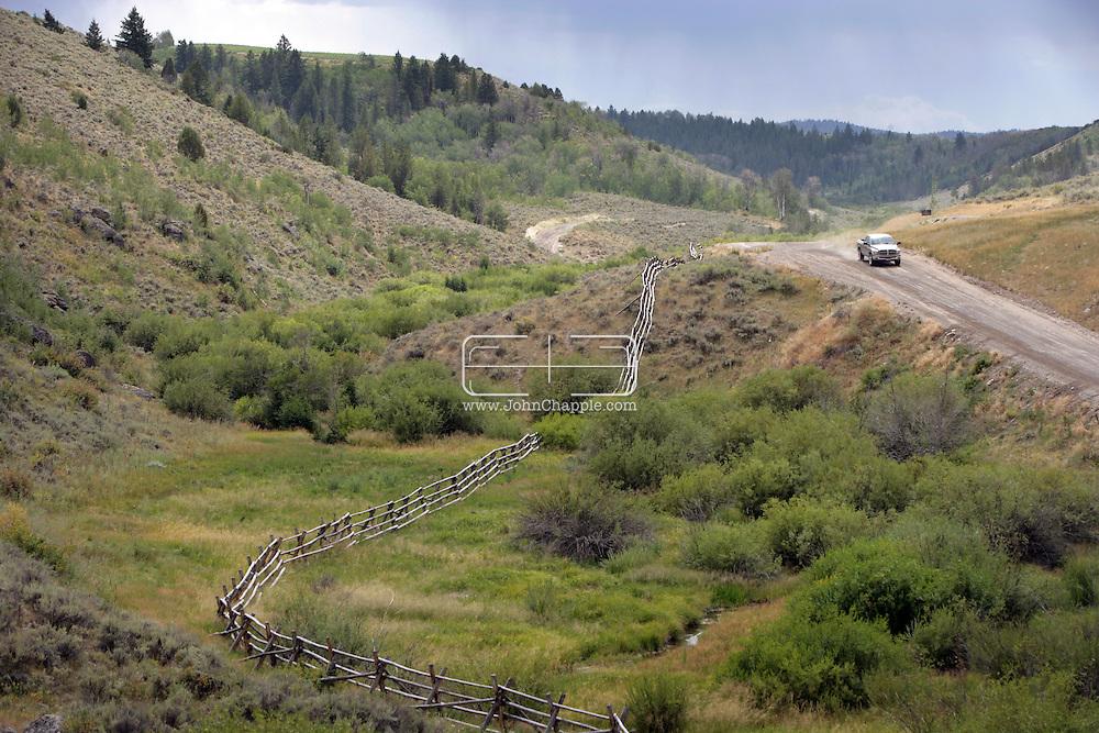 16th August 2007. Newdale, Idaho. The Lazy Triple Creek Ranch. Where Madonna and Guy Ritchie's former gamekeeper Martin Taylor now works...PHOTO © JOHN CHAPPLE / REBEL IMAGES.tel 310 570 9100.john@chapple.biz.www.chapple.biz..