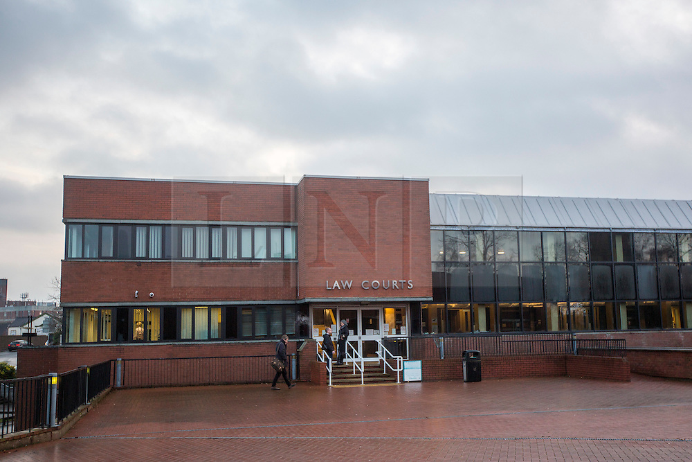 © Licensed to London News Pictures. 14/12/2016. Crewe UK. Picture shows Crewe Magistrates Court where Former football coach Barry Bennell will appear by video link this morning. The 62 year old is accused of eight offences of sexual assault against a boy under the age of  14 allegedly committed between 1981 & 1985. The ex-Crewe Alexandra FC youth coach faces five counts of indecent assault, two counts of inciting gross indecency & one count of assault with intent to commit buggery. Photo credit: Andrew McCaren/LNP
