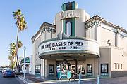Historic Lido Theater in Via Lido Plaza of Newport Beach