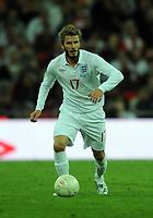 Wembley Stadium England v Belarus (3-0)  World Cup Qualifying Group 6 14/10/2009<br /> David Beckham (England) <br /> Photo Roger Parker Fotosports International