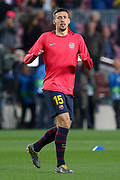 Barcelona defender Clement Lenglet (15) warm up during the Champions League quarter-final leg 2 of 2 match between Barcelona and Manchester United at Camp Nou, Barcelona, Spain on 16 April 2019.