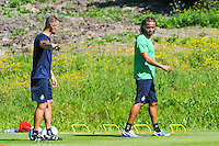 Thierry Cotte / Benoit Assou Ekotto - 30.06.2015 - Reprise Entrainement Saint Etienne - 2015/2016<br /> Photo : Jean Paul Thomas / Icon Sport