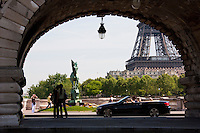 eiffel tower Paris France in Spring time of May 2008
