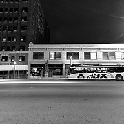 KCATA Max Bus waiting at the 39th and Main bus stop.