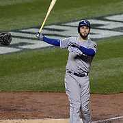 Eric Hosmer, Kansas City Royals, batting during the New York Mets Vs Kansas City Royals, Game 5 of the MLB World Series at Citi Field, Queens, New York. USA. 1st November 2015. Photo Tim Clayton