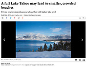 Full Lake Tahoe <br /> <br /> Image: &quot;Blue Skies and a Blue Lake&quot;