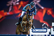 HONG KONG - FEBRUARY 19:  Kevin Staut of France rides Ayade de Septon Et HDC during The Hong Kong Jockey Club Trophy as part of the 2016 Longines Masters of Hong Kong on February 19, 2016 in Hong Kong, Hong Kong.  (Photo by Aitor Alcalde Colomer/Getty Images)