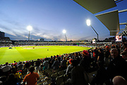 Edgbaston Stadium under the floodlights during the NatWest T20 Final match between Birmingham Bears and Notts Outlaws at Edgbaston, Birmingham, United Kingdom  on 2 September 2017. Photo by Graham Hunt.