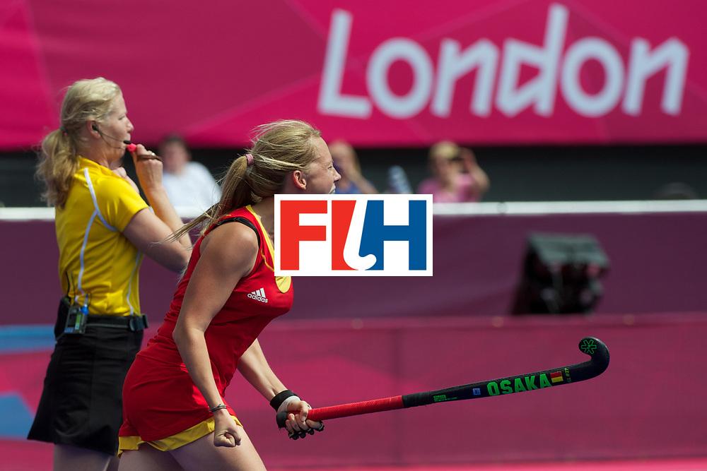 Olympics 2012, hockey, Jill Boon celebrates its penalty stroke scored