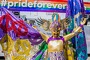 The London Pride parade and event in Trafalgar Square.