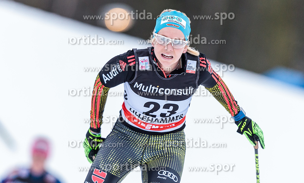 05.12.2015, Nordic Arena, NOR, FIS Weltcup Langlauf, Lillehammer, Damen, im Bild Sandra Ringwald (GER) // Sandra Ringwald of Germany during Ladies Cross Country Competition of FIS Cross Country World Cup at the Nordic Arena, Lillehammer, Norway on 2015/12/05. EXPA Pictures © 2015, PhotoCredit: EXPA/ JFK