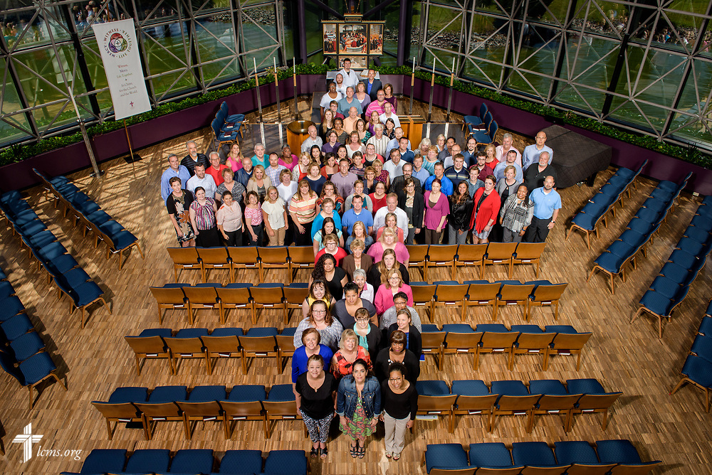 Group photograph of Concordia Plan Services on Thursday, June 15, 2017, at the International Center of The Lutheran Church–Missouri Synod in St. Louis. LCMS Communications/Erik M. Lunsford