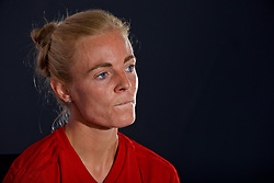SWANSEA, WALES - Wednesday, June 6, 2018: Wales' captain Sophie Ingle during a press conference at the Liberty Stadium ahead of the FIFA Women's World Cup 2019 Qualifying Round Group 1 match against Bosnia and Herzegovina. (Pic by David Rawcliffe/Propaganda)