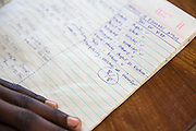 Children take a Swahili to English translation test during a class taken by VSO volunteer Paul Jennings and local teacher Rebecca  Ngovano. Paul has been working with Rebecca for over 6 months to improve teaching methodologies in classrooms. Angaza school, Lindi, Tanzania