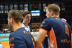 12-05-2019 NED: Abiant Lycurgus - Achterhoek Orion, Groningen<br /> Final Round 5 of 5 Eredivisie volleyball, Orion wins Dutch title after thriller against Lycurgus 3-2 / Joris Marcelis #4 of Orion, /;y2/
