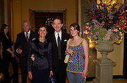 Sir Anthony and Lady Andrews with their daughter Amy Samantha, Bruce Oldfield celebrates the publication of 'Rootless' party in aid of Crimestoppers. Claridges. 22 September 2004. SUPPLIED FOR ONE-TIME USE ONLY-DO NOT ARCHIVE. © Copyright Photograph by Dafydd Jones 66 Stockwell Park Rd. London SW9 0DA Tel 020 7733 0108 www.dafjones.com