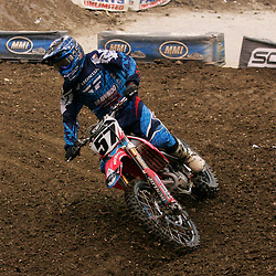 14 March 2009: Jacob Marsack (57) rides in a qualifying heat during the Monster Energy AMA Supercross race at the Louisiana Superdome in New Orleans, Louisiana