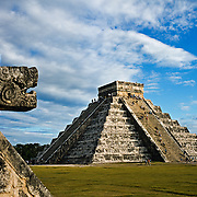 The castle pyramid. Chichen Itza, Yucatan. Mexico.