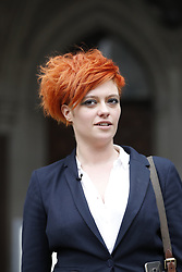 © Licensed to London News Pictures. 10/3/2017. London, UK. Food blogger Jack Monroe leaves the High Court.  Jack Monroe has won her claim for libel damages after 'serious harm' was caused over tweets from the Daily Mail columnist Katie Hopkins. Photo credit: Peter Macdiarmid/LNP