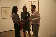 Anja Birnbaum, Jade Awdry and Charlie Phillips, Al Taylor private view. Haunch of Venison. London. 13 September 2006. ONE TIME USE ONLY - DO NOT ARCHIVE  © Copyright Photograph by Dafydd Jones 66 Stockwell Park Rd. London SW9 0DA Tel 020 7733 0108 www.dafjones.com