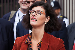 """London, UK. 25 September, 2019. Layla Moran, Liberal Democrat MP for Oxford West and Abingdon, prepares to return to Parliament with her colleagues on the day after the Supreme Court ruled that the Prime Minister's decision to suspend parliament was """"unlawful, void and of no effect"""". Credit: Mark Kerrison/Alamy Live News"""
