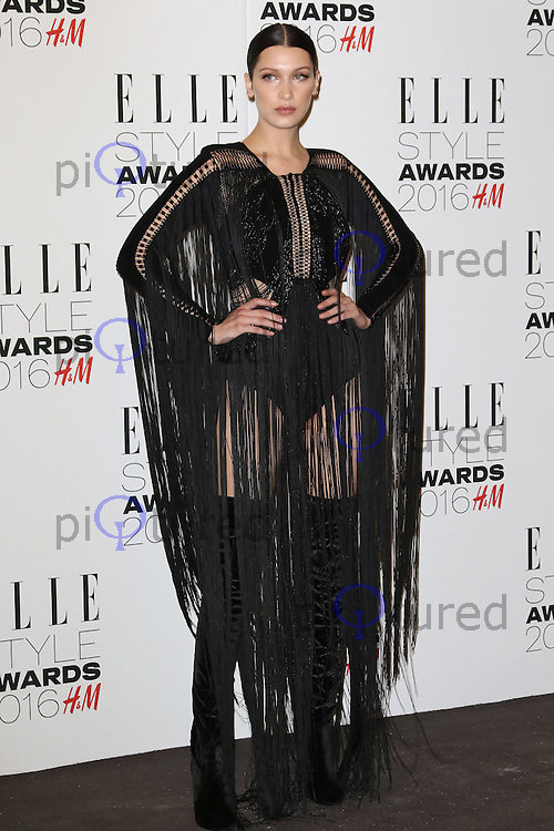 Bella Hadid, ELLE Style Awards 2016, Millbank London UK, 23 February 2016, Photo by Richard Goldschmidt