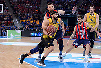 Baskonia's Andrea Bargnani and Nico Laprovittola and Iberostar Tenerife's David White during Quarter Finals match of 2017 King's Cup at Fernando Buesa Arena in Vitoria, Spain. February 16, 2017. (ALTERPHOTOS/BorjaB.Hojas)