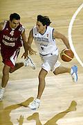 DESCRIZIONE : Madrid Spagna Spain Eurobasket Men 2007 Qualifying Round Italia Turchia Italy Turkey GIOCATORE : Marco Mordente <br /> SQUADRA : Nazionale Italia Uomini Italy <br /> EVENTO : Eurobasket Men 2007 Campionati Europei Uomini 2007 <br /> GARA : Italia Turchia Italy Turkey <br /> DATA : 10/09/2007 <br /> CATEGORIA : Palleggio <br /> SPORT : Pallacanestro <br /> AUTORE : Ciamillo&amp;Castoria/E.Castoria <br /> Galleria : Eurobasket Men 2007 <br /> Fotonotizia : Madrid Spagna Spain Eurobasket Men 2007 Qualifying Round Italia Turchia Italy Turkey Predefinita :
