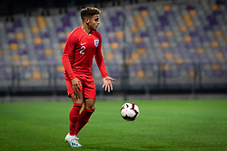 Max Aarons of England during friendly Football match between U21 national teams of Slovenia and England, on October 11, 2019 in Ljudski Vrt, Maribor, Slovenia. Photo by Blaž Weindorfer / Sportida