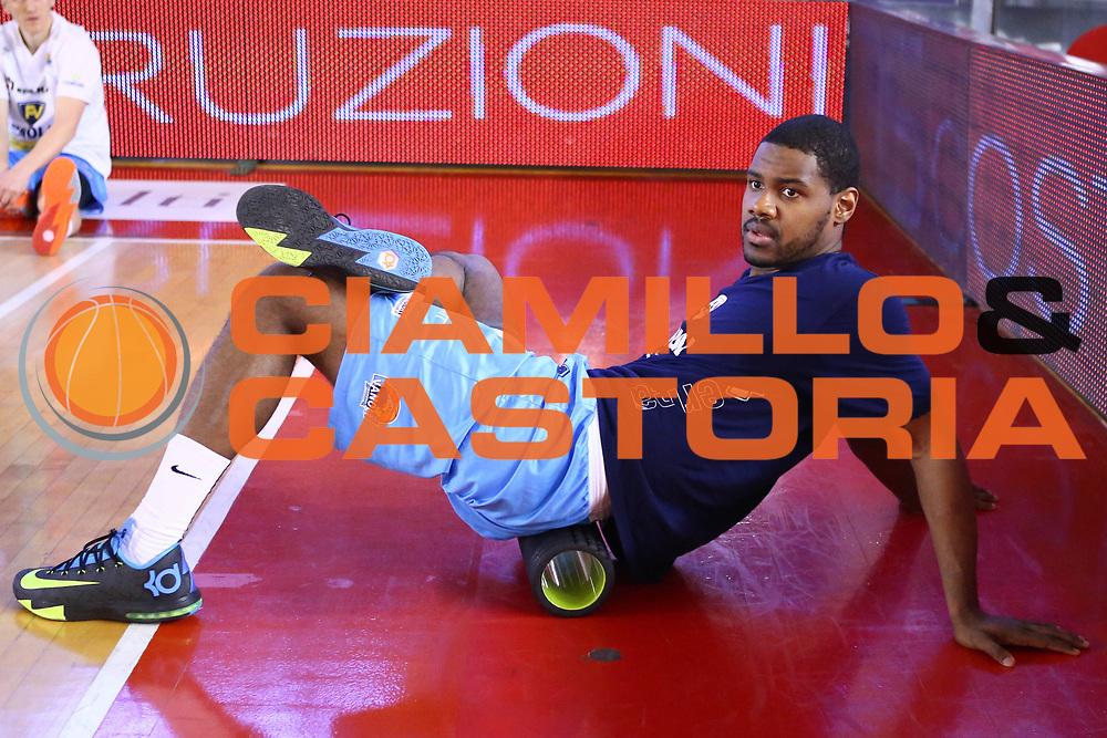 DESCRIZIONE : Roma Lega A 2013-2014 Acea Roma Vanoli Cremona<br /> GIOCATORE : Johnson Kyle<br /> CATEGORIA : pre game<br /> SQUADRA : Vanoli Cremona<br /> EVENTO : Campionato Lega A 2013-2014<br /> GARA : Acea Roma Pasta Vanoli Cremona<br /> DATA : 09/03/2014<br /> SPORT : Pallacanestro <br /> AUTORE : Agenzia Ciamillo-Castoria/M.Simoni<br /> Galleria : Lega Basket A 2013-2014  <br /> Fotonotizia : Roma Lega A 2013-2014 Acea Roma Vanoli Cremona<br /> Predefinita :