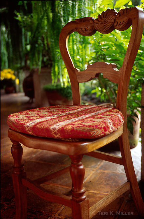 Chair at The Cloisters Hotel, Antigua, Guatemala