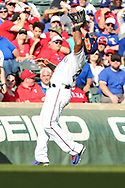 March 29, 2018 - Arlington, TX, U.S. - ARLINGTON, TX - MARCH 29: Texas Rangers third baseman Adrian Beltre (29) catches a pop fly during the game between the Texas Rangers and the Houston Astros on March 29, 2018 at Globe Life Park in Arlington, Texas. Houston defeats Texas 4-1. (Photo by Matthew Pearce/Icon Sportswire) (Credit Image: © Matthew Pearce/Icon SMI via ZUMA Press)