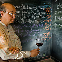 Philip Paxton, Wine Merchant of Paxton's Cellar in Redlands, Tuesday, Aug. 23, 2011.  (Eric Reed/Photographer)