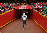 Quarterback Philip Rivers #17 of the Los Angeles Chargers runs up the tunnel for the final time as the quarterback of the Chargers, following the Chargers 31-21 lose to the Kansas City Chiefs at Arrowhead Stadium on December 29, 2019 in Kansas City, Missouri.