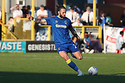 AFC Wimbledon defender Callum Kennedy (23) clearing the ball during the EFL Sky Bet League 1 match between AFC Wimbledon and Bury at the Cherry Red Records Stadium, Kingston, England on 5 May 2018. Picture by Matthew Redman.