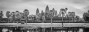 Tourists at Angkor Wat Temple; Angkor Wat Archeological Park, Siem Reap, Cambodia.