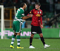 Turkey superleague football match between Bursaspor and Galatasaray at Ataturk Stadium in Istanbul. 02.02.2013.Match Scored: Bursaspor 1 - Galatasaray 1.Pictured: Anton Ferdinand (L) of Bursaspor and Albert Riera (R) of Galatasaray.