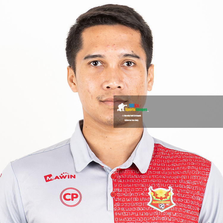 THAILAND - JUNE 29: Anirut Naiyana #1 of Sukhothai FC on June 29, 2019.<br /> .<br /> .<br /> .<br /> (Photo by: Naratip Golf Srisupab/SEALs Sports Images/MB Media Solutions)