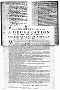 American Declaration of Independence, 4 July 1776.