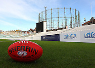 Picture by Paul Terry/SLIK images +44 7545 642257. 1st November 2012. .A general view during a training session for Western Bulldogs and Port Adelaide ahead of Saturday's Elastoplast AFL European Challenge at Kia Oval in London, UK