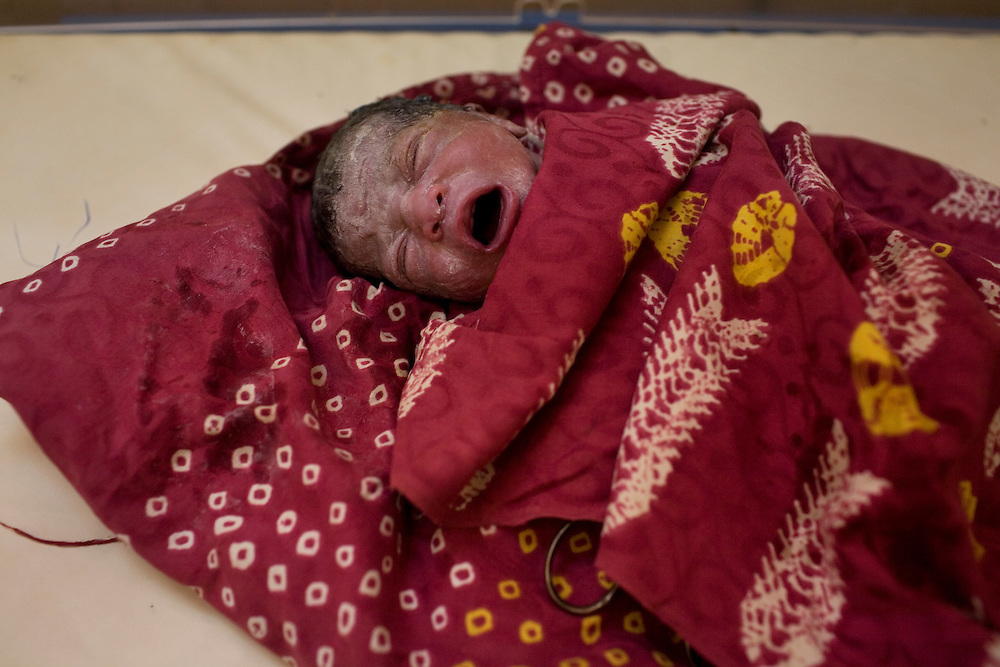 Newborn, delivery room. Hospital Yalgado, Ouagadougou, Burkina Faso