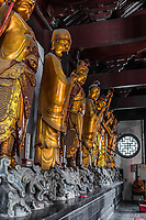 Shanghai, China - April 7, 2013: statue in the The Jade Buddha Temple at the city of Shanghai in China on april 7th, 2013