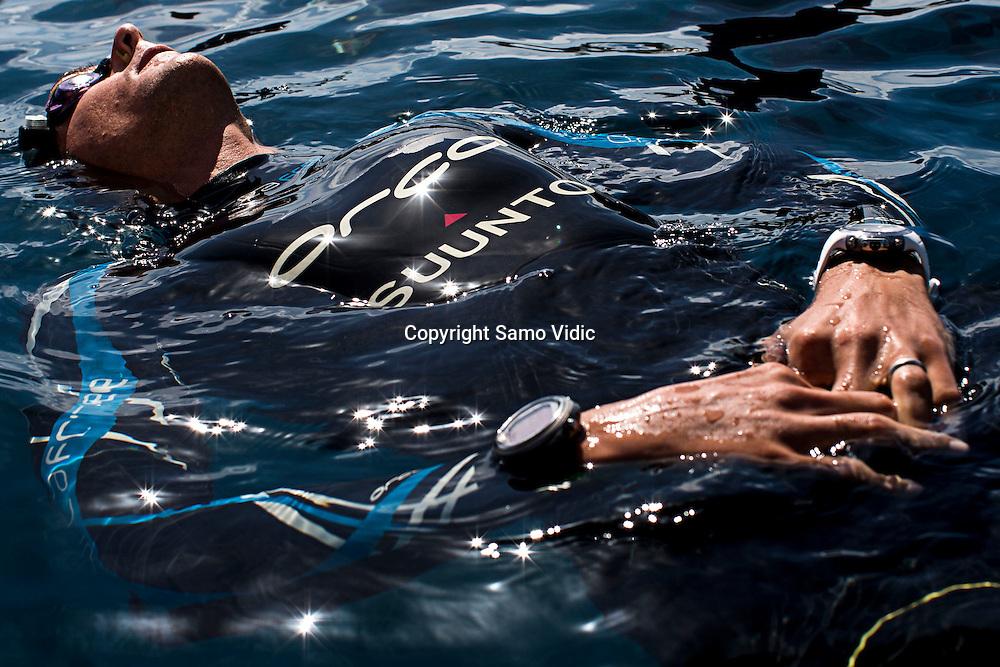 William Trubridge of New Zealand at Dean`s Blue Hole, Bahamas, 22 November 2012<br /> Photo: Samo Vidic