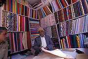 Fabric shop selling silks and cotton, Gangtok, Sikkim