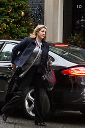 London, UK. 18th December, 2018. Penny Mordaunt MP, Secretary of State for International Development, arrives at 10 Downing Street for the final Cabinet meeting before the Christmas recess. Topics to be discussed were expected to include preparations for a 'No Deal' Brexit.