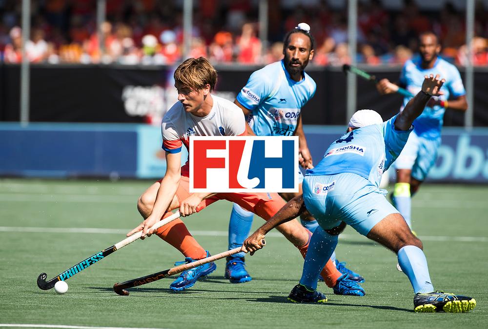 BREDA - Jorrit Croon (Ned)  tijdens Nederland- India (1-1) bij  de Hockey Champions Trophy. India plaatst zich voor de finale.  COPYRIGHT KOEN SUYK