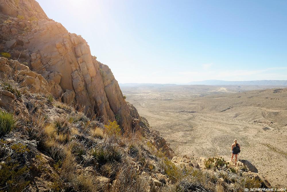Enjoying the scenic Marufo Vega Loop Trail in Big Bend National Park, Texas.