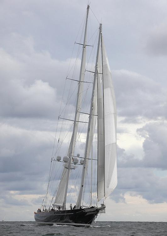 S/Y Meteor at the 2010 Newport Bucket. Super yachts racing in the 2010 Newport Bucket.