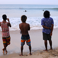 Watching the surf near Arugam Bay, Sri Lanka