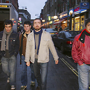 "Photo (c) Mark Chilvers/Insight.date: 20th january 2004..American Indie Band ""The Shins"" photographed on Brick Lane, East London"